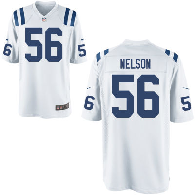 Men's Indianapolis Colts #56 Quenton Nelson White Road Stitched NFL Nike Game Jersey