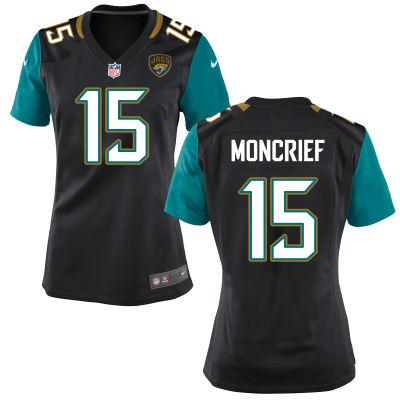 Men's Jacksonville Jaguars #15 Donte Moncrief Black Alternate Stitched NFL Nike Game Jersey