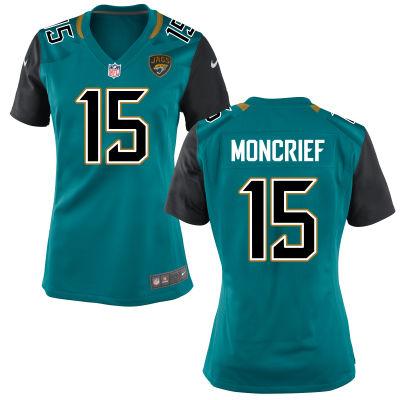 Men's Jacksonville Jaguars #15 Donte Moncrief Teal Green Team Color Stitched NFL Nike Game Jersey