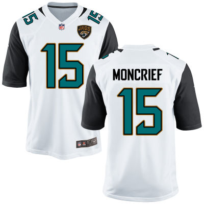 Men's Jacksonville Jaguars #15 Donte Moncrief White Road Stitched NFL Nike Game Jersey