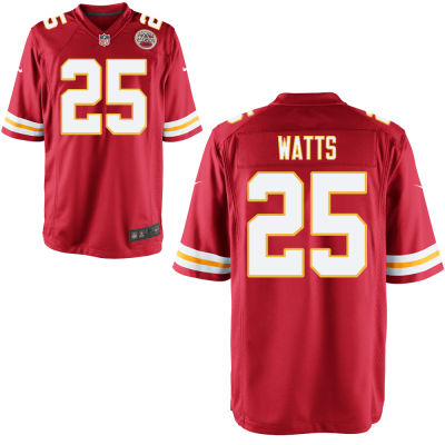 Men's Kansas City Chiefs #25 Armani Watts Red Team Color Stitched NFL Nike Game Jersey