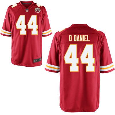 Men's Kansas City Chiefs #44 Dorian O'Daniel Red Team Color Stitched NFL Nike Game Jersey