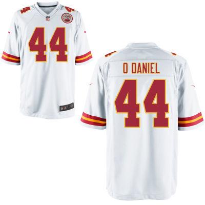 Men's Kansas City Chiefs #44 Dorian O'Daniel White Road Stitched NFL Nike Game Jersey