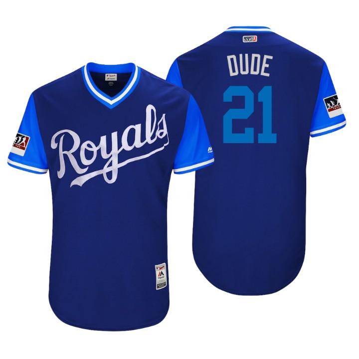 Men's Kansas City Royals Authentic Lucas Duda #21 Royal 2018 LLWS Players Weekend Dude Jersey