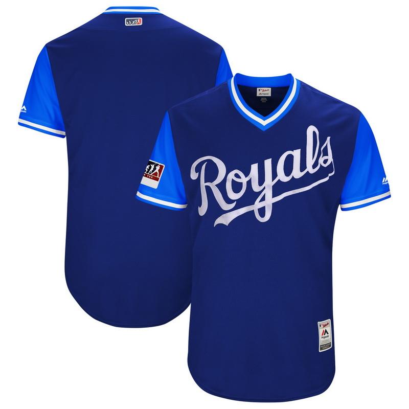 Men's Kansas City Royals Majestic Royal-Light Blue 2018 Players' Weekend Authentic Team Jersey