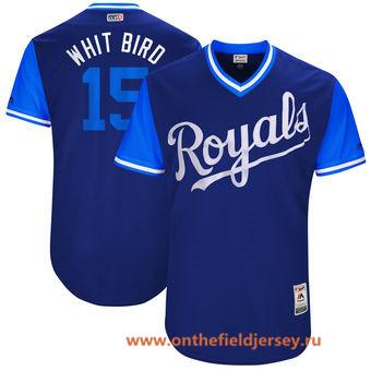 Men's Kansas City Royals Whit Merrifield -Whit Bird- Majestic Royal 2017 Little League World Series Players Weekend Stitched Nickname Jersey