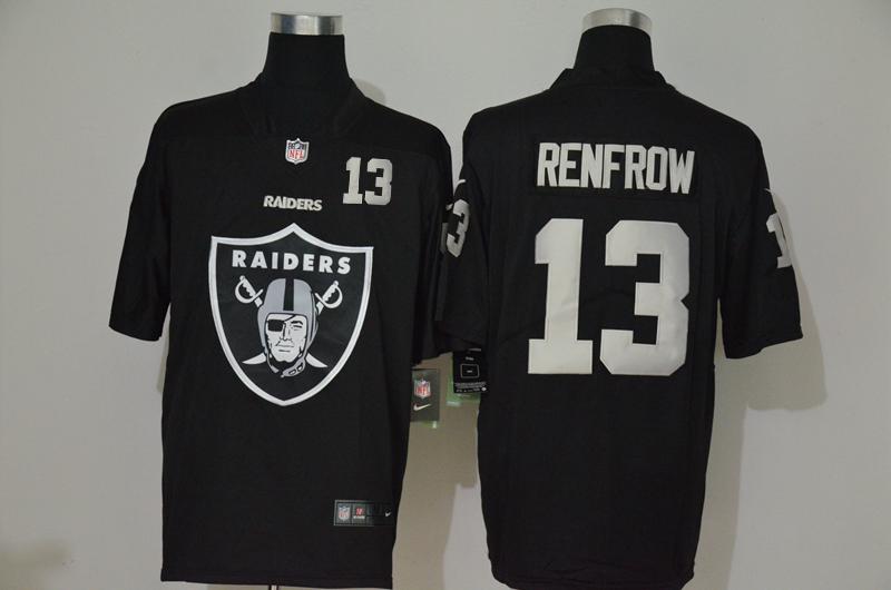 Men's Las Vegas Raiders #13 Hunter Renfrow Black 2020 Big Logo Number Vapor Untouchable Stitched NFL Nike Fashion Limited Jersey