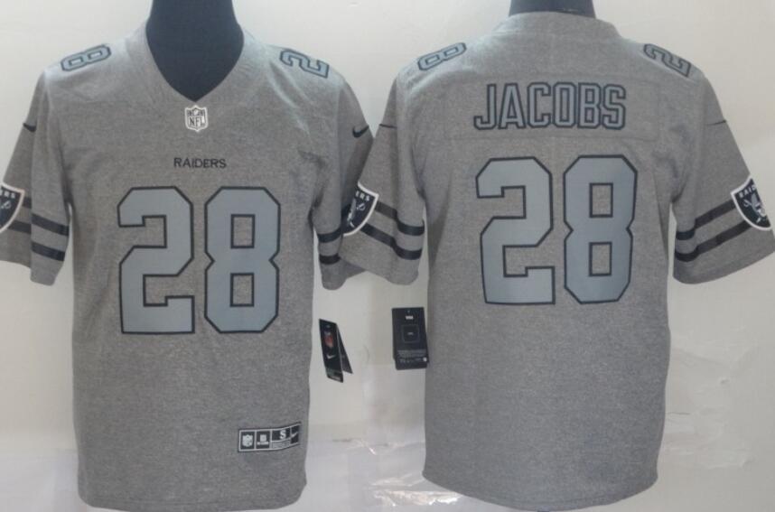 Men's Las Vegas Raiders #28 Josh Jacobs 2019 Gray Gridiron Vapor Untouchable Stitched NFL Nike Limited Jersey