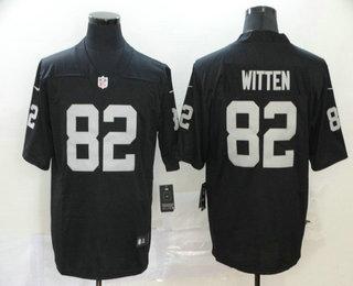 Men's Las Vegas Raiders #82 Jason Witten Black 2020 Vapor Untouchable Stitched NFL Nike Limited Jersey
