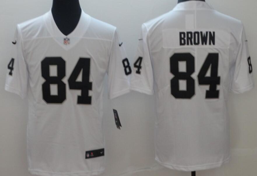 Men's Las Vegas Raiders #84 Antonio Brown White 2020 Vapor Untouchable Stitched NFL Nike Limited Jersey