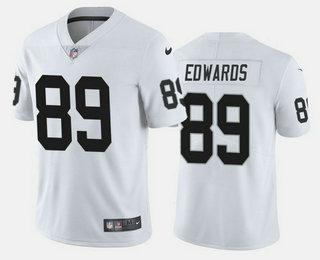 Men's Las Vegas Raiders #89 Bryan Edwards White 2020 Vapor Untouchable Stitched NFL Nike Limited Jersey