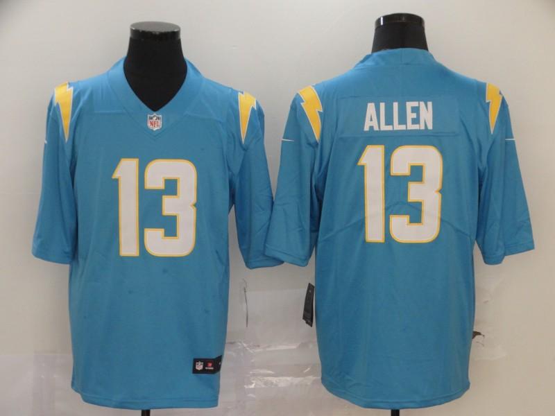 Men's Los Angeles Chargers #13 Keenan Allen Light Blue 2020 New Vapor Untouchable Stitched NFL Nike Limited Jersey