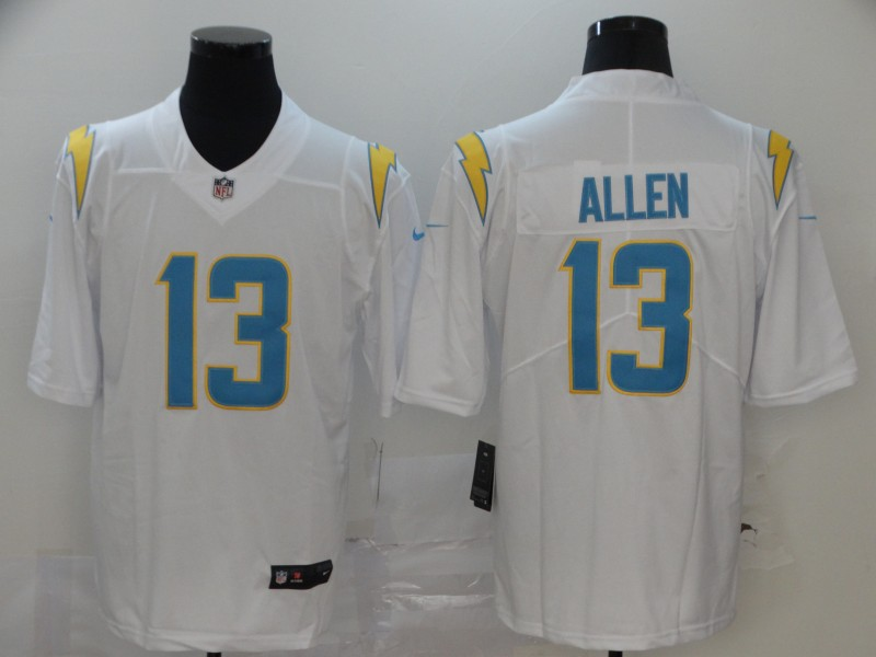 Men's Los Angeles Chargers #13 Keenan Allen White 2020 New Vapor Untouchable Stitched NFL Nike Limited Jersey