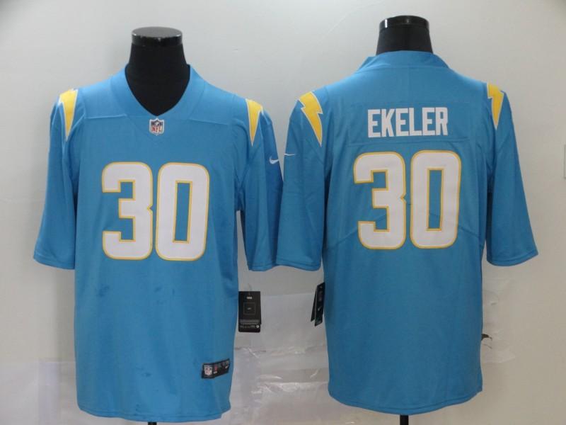 Men's Los Angeles Chargers #30 Austin Ekeler Light Blue 2020 New Vapor Untouchable Stitched NFL Nike Limited Jersey