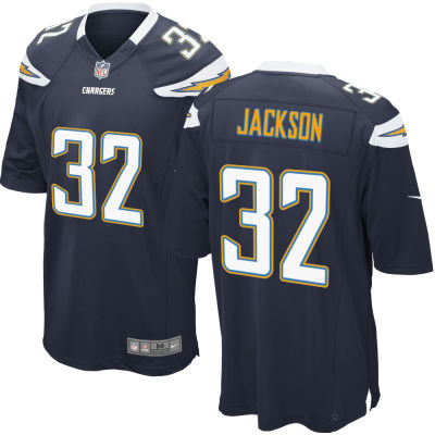 Men's Los Angeles Chargers #32 Justin Jackson Navy Blue Team Color Stitched NFL Nike Game Jersey