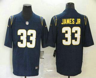 Men's Los Angeles Chargers #33 Derwin James Jr Navy Blue 2020 New Vapor Untouchable Stitched NFL Nike Limited Jersey