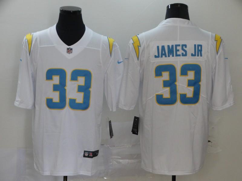 Men's Los Angeles Chargers #33 Derwin James Jr White 2020 New Vapor Untouchable Stitched NFL Nike Limited Jersey