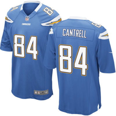 Men's Los Angeles Chargers #84 Dylan Cantrell Light Blue Alternate Stitched NFL Nike Game Jersey