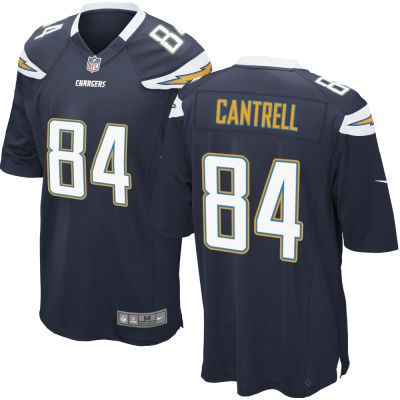 Men's Los Angeles Chargers #84 Dylan Cantrell Navy Blue Team Color Stitched NFL Nike Game Jersey
