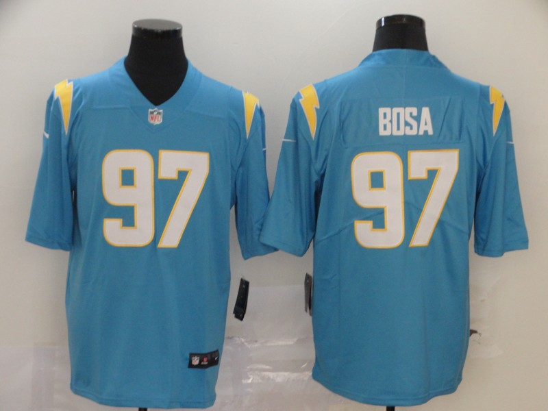 Men's Los Angeles Chargers #97 Joey Bosa Light Blue 2020 New Vapor Untouchable Stitched NFL Nike Limited Jersey