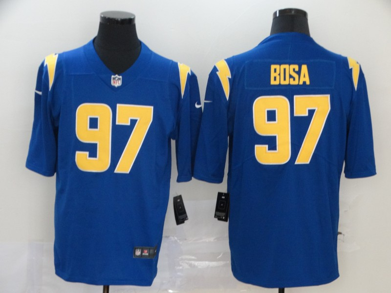 Men's Los Angeles Chargers #97 Joey Bosa Royal Blue 2020 NEW Color Rush Stitched NFL Nike Limited Jersey