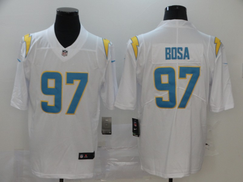 Men's Los Angeles Chargers #97 Joey Bosa White 2020 New Vapor Untouchable Stitched NFL Nike Limited Jersey