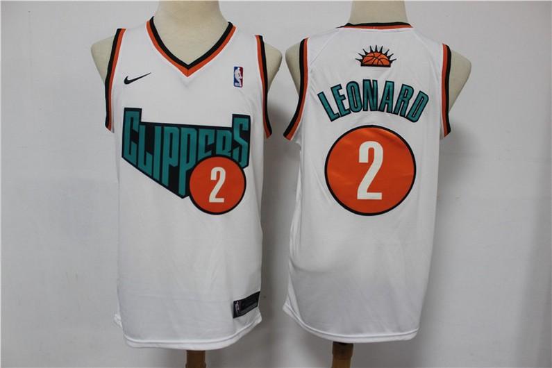 Men's Los Angeles Clippers #2 Kawhi Leonard NEW White 2020 Nike Swingman Stitched NBA Jersey
