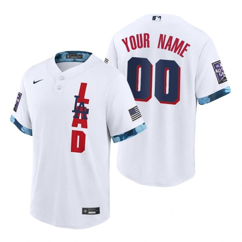 Men's Los Angeles Dodgers Custom2021 White All-Star Nike Cool Base Stitched MLB Jersey