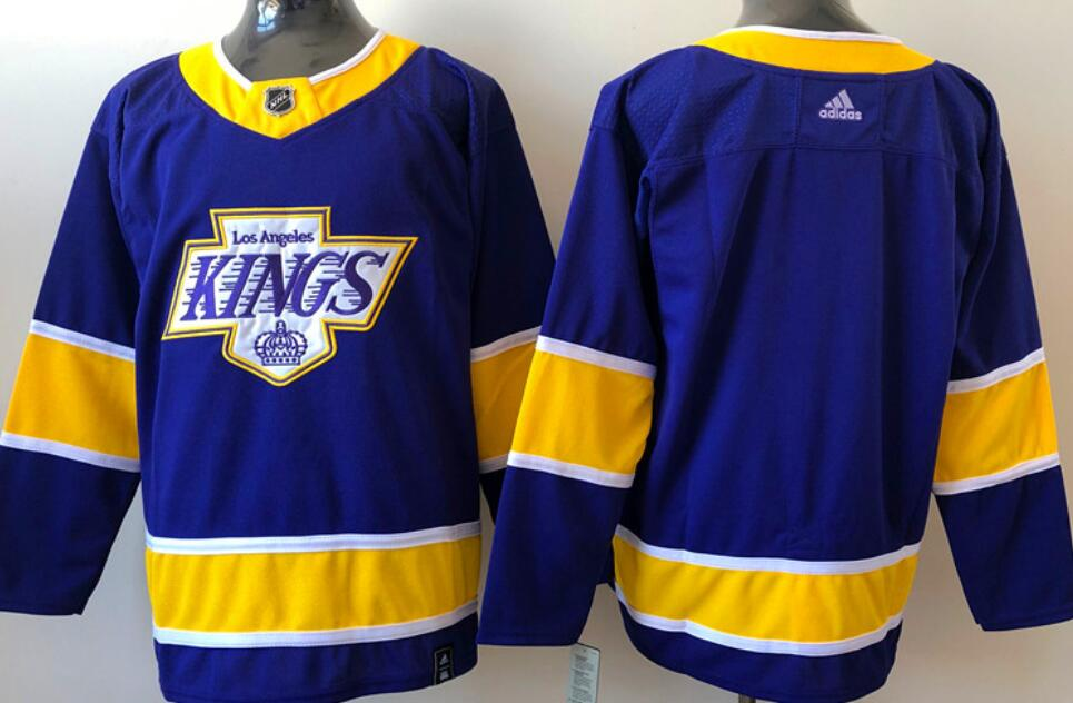 Men's Los Angeles Kings Blank Purple 2020-21 Reverse Retro Alternate Adidas Stitched NHL Jersey