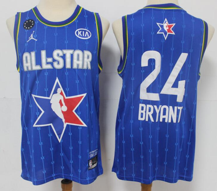 Men's Los Angeles Lakers #24 Kobe Bryant Blue Jordan Brand 2020 All-Star Game Swingman Stitched NBA Jersey