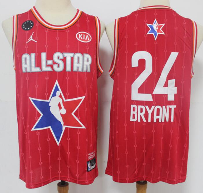 Men's Los Angeles Lakers #24 Kobe Bryant Red Jordan Brand 2020 All-Star Game Swingman Stitched NBA Jersey