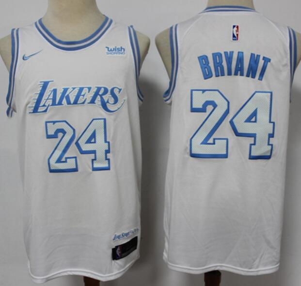 Men's Los Angeles Lakers #24 Kobe Bryant White NEW 2021 Nike City Edition Stitched Jersey