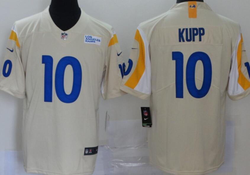 Men's Los Angeles Rams #10 Cooper Kupp Cream Bone 2020 New Vapor Untouchable Stitched NFL Nike Limited Jersey