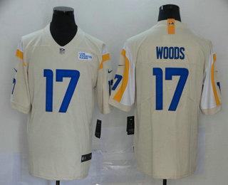 Men's Los Angeles Rams #17 Robert Woods Cream Bone 2020 NEW Vapor Untouchable Stitched NFL Nike Limited Jersey