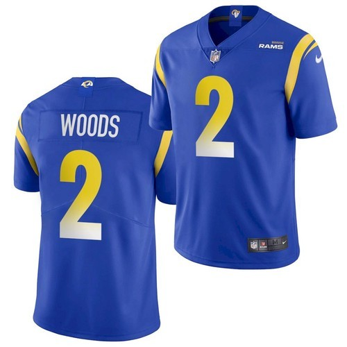 Men's Los Angeles Rams #2 Robert Woods Royal Blue 2020 New Vapor Untouchable Stitched NFL Nike Limited Jersey
