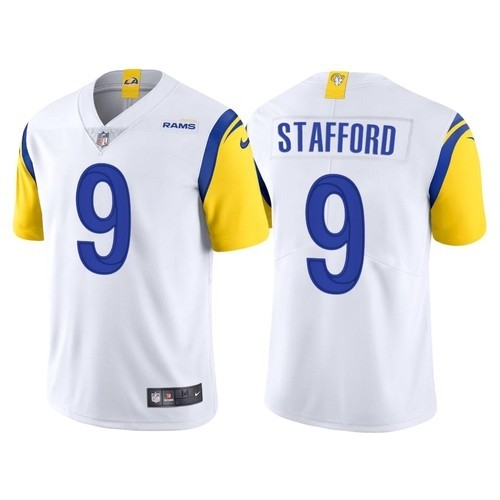Men's Los Angeles Rams #9 Matthew Stafford 2021 New White Nike Vapor Untouchable Limited Stitched NFL Jersey