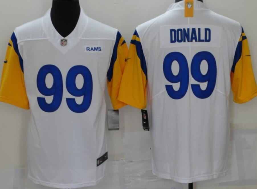 Men's Los Angeles Rams #99 Aaron Donald 2021 New White Nike Vapor Untouchable Limited Stitched NFL Jersey