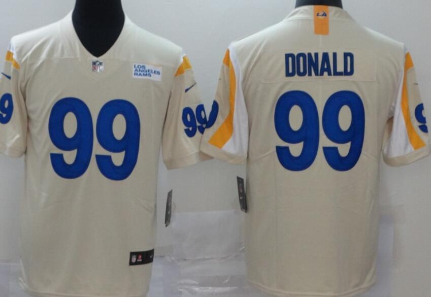 Men's Los Angeles Rams #99 Aaron Donald Cream Bone 2020 New Vapor Untouchable Stitched NFL Nike Limited Jersey
