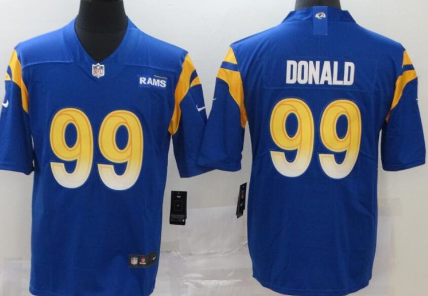 Men's Los Angeles Rams #99 Aaron Donald Roayl Blue 2020 New Vapor Untouchable Stitched NFL Nike Limited Jersey