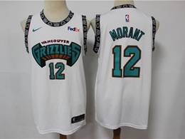 Men's Memphis Grizzlies #12 Ja Morant White Retro 2019 Nike NBA Swingman Jersey