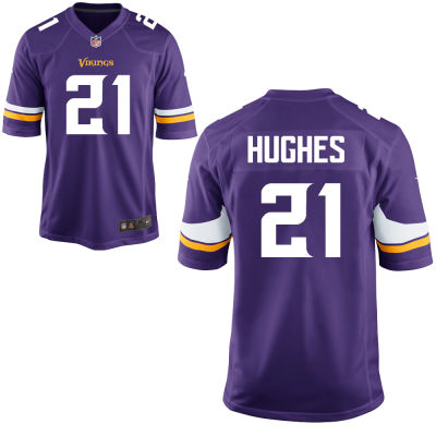 Men's Minnesota Vikings #21 Mike Hughes Purple Color Stitched NFL Nike Game Jersey