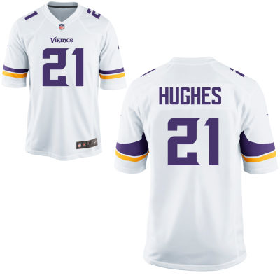 Men's Minnesota Vikings #21 Mike Hughes White Road Stitched NFL Nike Game Jersey