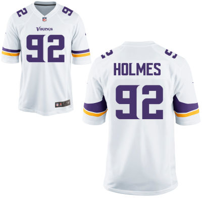 Men's Minnesota Vikings #92 Jalyn Holmes White Road Stitched NFL Nike Game Jersey