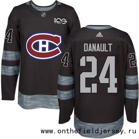 Men's Montreal Canadiens #24 Phillip Danault Black 100th Anniversary Stitched NHL 2017 adidas Hockey Jersey
