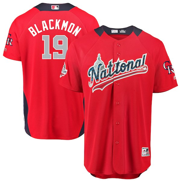 Men's National League Charlie Blackmon Majestic Red 2018 MLB All-Star Game Home Run Derby Player Jersey