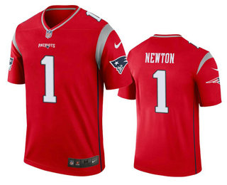 Men's New England Patriots #1 Cam Newton Red 2020 Inverted Legend Stitched NFL Nike Limited Jersey