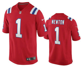 Men's New England Patriots #1 Cam Newton Red 2020 NEW Vapor Untouchable Stitched NFL Nike Limited Jersey