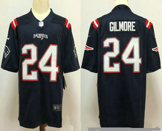 Men's New England Patriots #24 Stephon Gilmore Navy Blue 2020 NEW Vapor Untouchable Stitched NFL Nike Limited Jersey