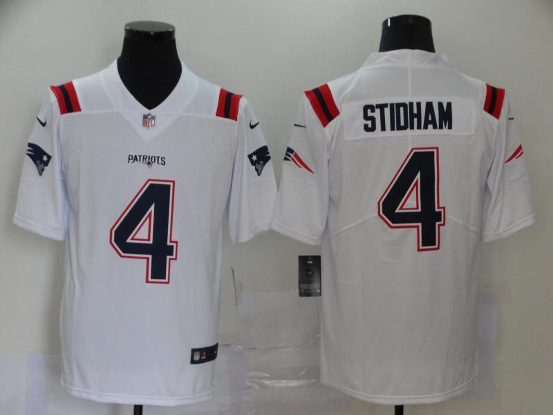 Men's New England Patriots #4 Jarrett Stidham White 2020 NEW Vapor Untouchable Stitched NFL Nike Limited Jersey