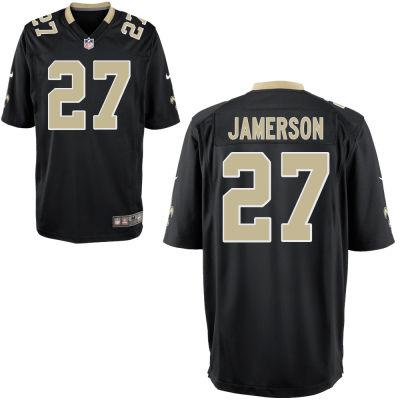 Men's New Orleans Saints #27 Natrell Jamerson Black Team Color Stitched NFL Nike Game Jersey